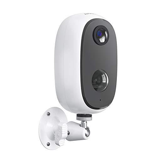 Telecamera WiFi Interno/Esterno Batteria 10000mAh Senza Fili, ieGeek FHD 1080P Telecamera di Sicurezza con Rilevamento del Movimento, Audio Bidirezionale, Visione Notturna, Compatibile con SD/Cloud