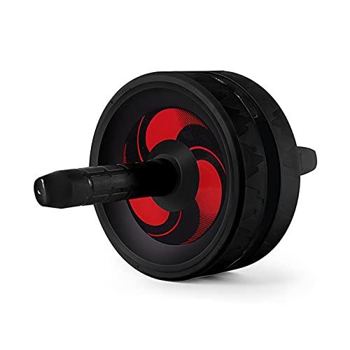HYMD Ruota Addominali Nessun Rumore Ab Roller Abdominal Roller Home Gym Esercizio formatore Muscolare Fitness per Creare Muscoli Addominali (Color : Black)