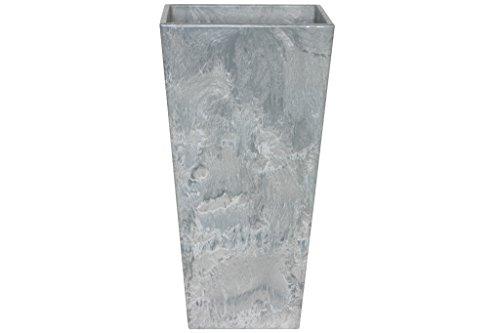 Artstone Pot de Fleurs, Bac à Plante Ella, résistant au Gel et ultraléger, Gris, 35x70cm