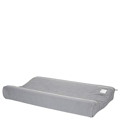 Koeka - Wickelauflagenbezug - Wickelunterlage Bezug - Riga - Abwaschbar - Bio-Baumwolle - Grau 45X73 Cm