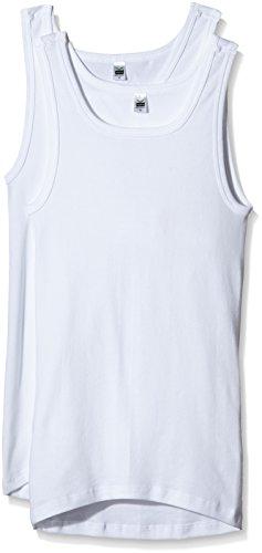 Trigema Herren 6864002 Unterhemd, Weiß (Weiss 001), Large (Herstellergröße: 7) (2er Pack)