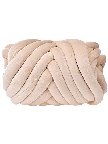 Advancethy Super Chunky Acryl-Garn, Nordic DIY handgewebte Decke, Kerngarn, Wolle, Roving Garn, runde grobe Linien, Strickgarn, DIY-Geschenk für Armstricken, Häkeln, Filzen Reis Kamel