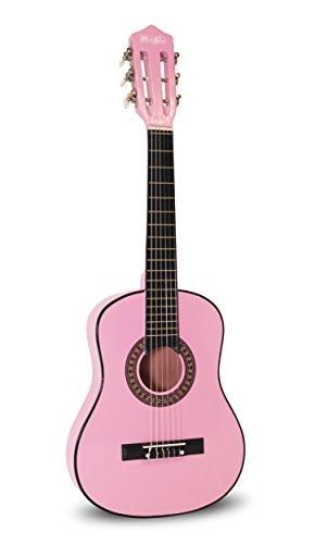 Music Alley Guitarra acústica clásica de niños secundaria, color Rosa