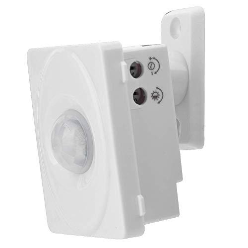 Detector de sensor de movimiento por infrarrojos, sensor de movimiento PIR infrarrojo ajustable automático, interruptor de inducción del cuerpo humano para luz LED de 12 V