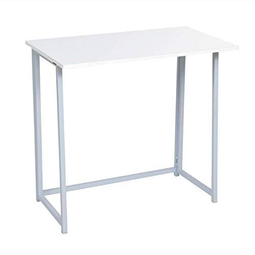 Vidal Regalos Mesa de Escritorio Plegable Blanca 80x75 cm