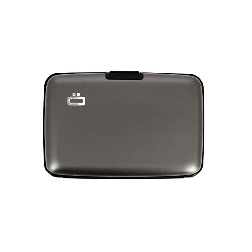 ÖGON Smart - Porta Carte Stockholm - Protezione RFID: Protegge Le Tue Carte Contro Le Frodi - Alluminio Anodizzato (Titanium)