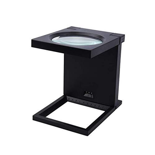 Lupa de artesanía creativa 2,5 veces el plegamiento de escritorio lupa, LED de alta definición de 2,5 veces de aumento de vidrio de 110 mm de la tercera edad y estudiantes lente grande, ideal for la l