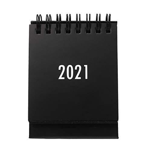 2020-2021 Desk Calendar Mini Monthly Calendar 18 Months Standing Flip Calendar July 2020 - December 2021 for Home Office Black