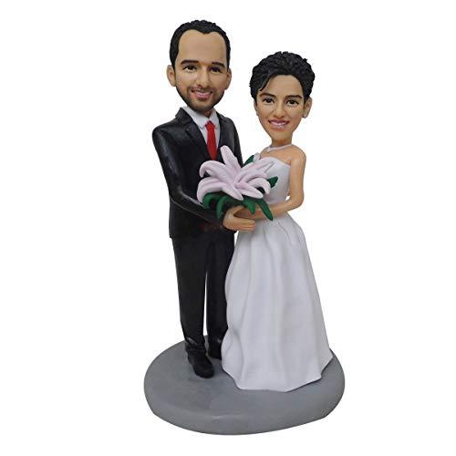 Spezielles Geschenk Hochzeit Spielzeug Mini Wachs Figur Benutzerdefinierte Geburtstag Braut und Bräutigam Hochzeit Geschenke Ideen Hochzeit Einzigartige handgemachte Geschenkpuppe