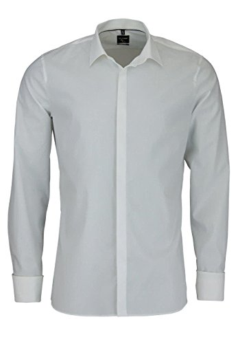 OLYMP No. Six super Slim Hemd Langarm Umschlagmanschette beige Größe 43