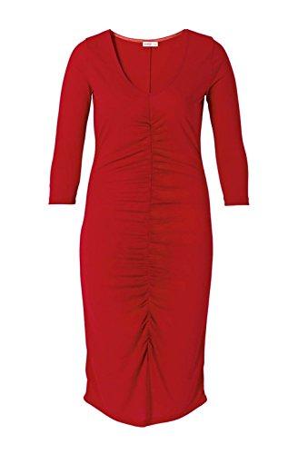 Sheego Große Größe: Damen, Kleid mit Raffungen, Anna SCHOLZ, rot
