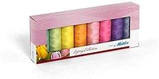 Mettler SERALON Spring-Kit 8er Nähgarnbox: Universalgarn Zum Nähen oder Sticken – 100% Polyester – 8 x 200 m, Pastellfarben