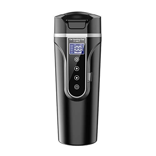 VISLONE Bouilloire chauffante pour véhicule - 12 V - 24 V - Chauffe-eau - Petit appareil électrique - Écran LCD
