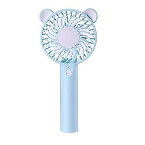 JZUKU Ventilador de Mano Ventilador De Carga USB Mini Ventilador Silencio Conveniente Mano Pequeño Ventilador (Color : Blue)