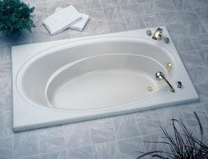 Jacuzzi E936958 Nova 5 Whirlpool 60'L x 42'W x 18-1/2'H Bathtub, Almond