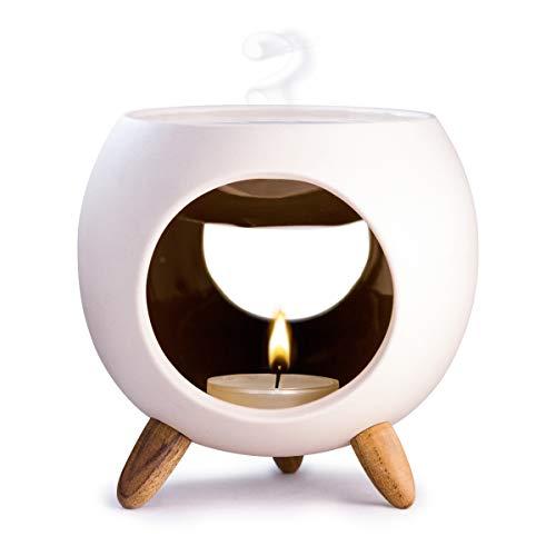 Kaloogo Sabai Scent Keramik Duftlampe rund (Duftlicht) - schwarz