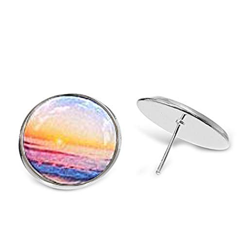 Bloomyjewelry Ohrstecker Sonnenuntergang Meer – romantische Ohrringe – nautischer Schmuck – Sommerkollektion von bloomyjewelry