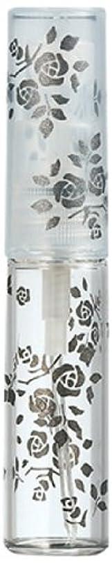 ピカリングメールを書く二層50122 【ヤマダアトマイザー】 グラスアトマイザー プラスチックポンプ 柄 バラ ブラック