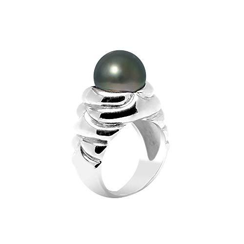 Tahitiperlen Ring und 925 silber - Blue Pearls - 58 BPS K449 W