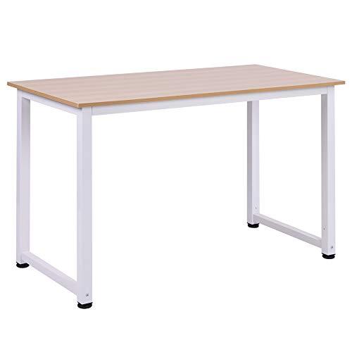 HOMCOM Mesa de Ordenador Escritorio para Hogar Oficina con Pies Ajustables Mobiliario Simple de...