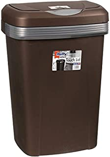 Hefty 13-Gallon Premium Touch Lid Waste Basket (1, Bronze)