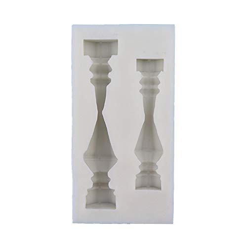 Baiyao Molde para velas, pilares griegos antiguos de columna romana, molde para chocolate, pastelería, arcilla polimérica, resina epoxi, herramientas de manualidades