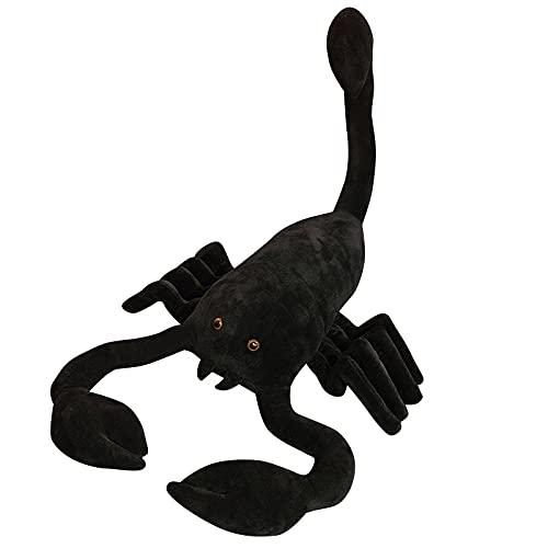 KXCAQ 45-120cm Niza Huggable Tamaño Grande Escorpión Negro Juguetes de Peluche Animal doméstico Muñecas Creativas para la decoración de cumpleaños de Navidad 100cm Negro