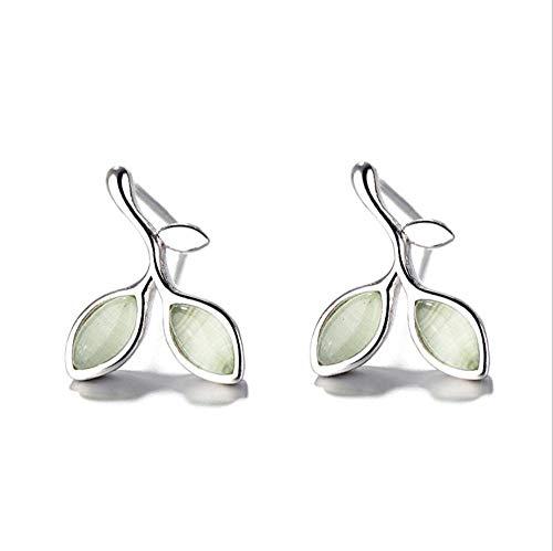 SUNHAO Oorbellen S925 zilver laat vrouwelijke kleine frisse opaal eenvoudige persoonlijkheid student kort haar oorbellen