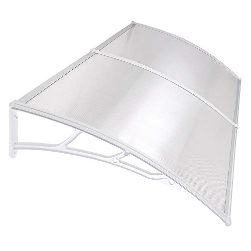 """Yescom 79x40"""" Outdoor Door Window Awning Canopy 2 Whole Hollow Polycarbonate Sheets Patio Cover"""