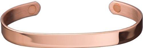 SABONA OF LONDON Kupfer-Magnetarmband, Nr. 514, 99,9% reines Elektrolytenkupfer, 2 SmCo Magnete à 1800 Gauß, Größe XL = 18 cm reine Bandlänge, geeignet für Handgelenksumfang von 19,5-20,5 cm
