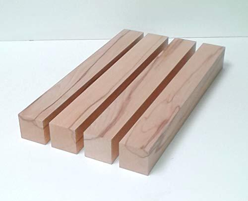 4 Tischfüße Kanthölzer Drechselholz Kernbuche massiv. 7x7cm stark. Hobelware.100-1600mm lang. (70x70x100mm lang.)