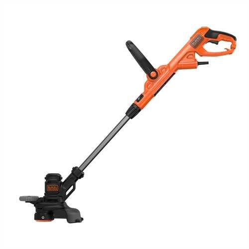 BLACK+DECKER BESTE628-QS Coupe-bordures filaire - Déroulement du fil PowerCommand 550W, Noir, 28 cm