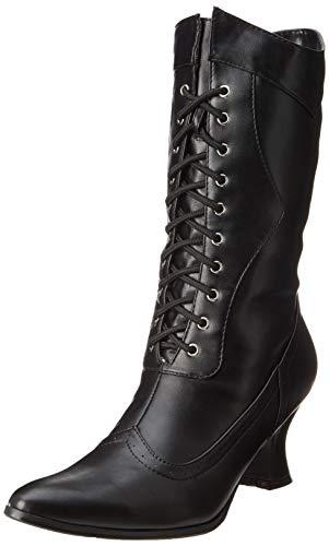 Ellie Shoes Women's 253 Amelia Victorian Boot, Black Polyurethane, 8 M US