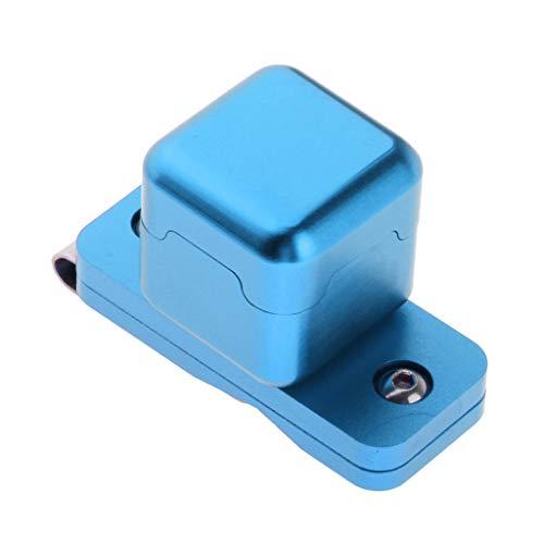 MagiDeal Support de Craie de Billard,Snooker Porte-Craie Magnétique avec Boucle,Clip Ceinture Accessoire Cadeau Billard - Bleu, 3x3x3cm