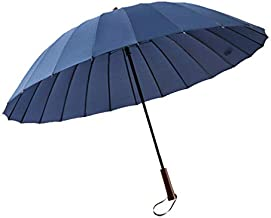 Light Year Antique Parasol Style Umbrella 190T Waterproof Fabric Cloth Carry Strap Collapsible Foldable Wooden Handle Windproof Sun Protection UV 24 Rib - 44