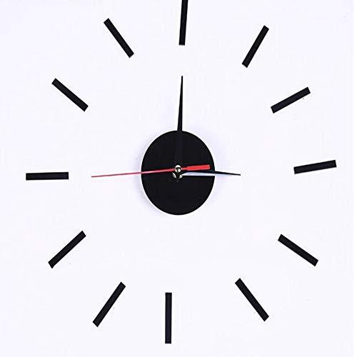 dufgbiWanduhr Aufkleber Stumm Home Clock Wanduhr Luxus Wohnzimmer Geschenk, 黑色