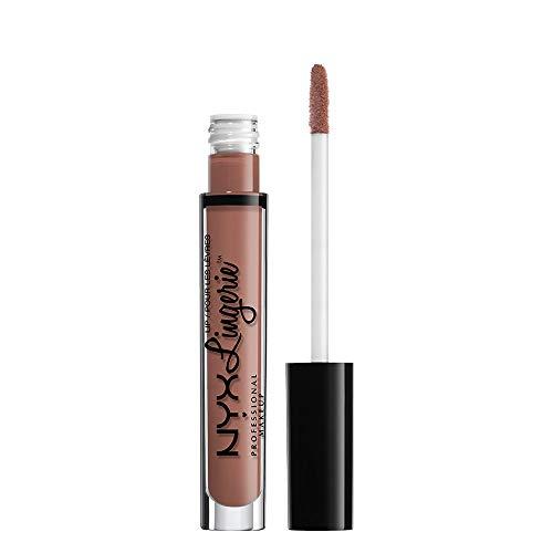 NYX Professional Makeup Pintalabios Lip Lingerie Liquid Lipstick, Acabado Cremoso y Mate, Larga Duración, Fórmula Vegana, Tono: Cashmere Silk