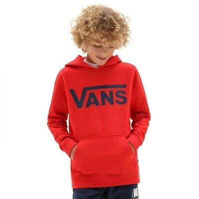 Vans Classic PO Hoodie FT Boys Sudadera con Capucha, Azul de Vestir Rojo de Alto Riesgo, XL para Niños