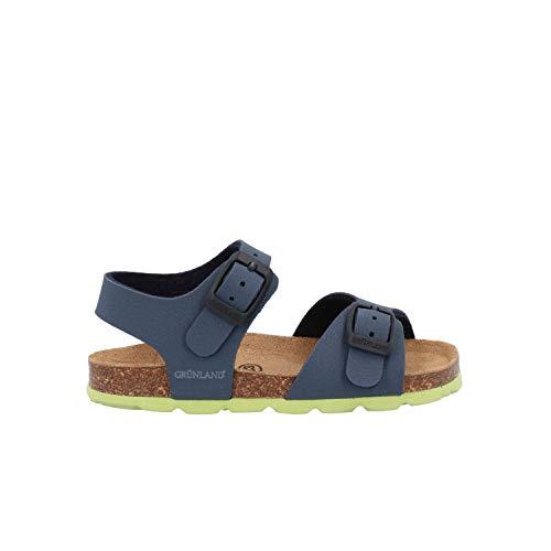 Grunland Aria Sandali Blu Lime Scarpe Bambino SB0025 21