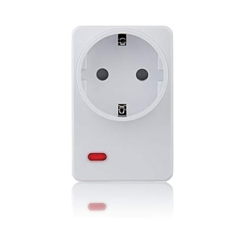 Blaupunkt Smart Home Zwischenstecker PSM-S1 I Zubehör für die Q-Serie von Blaupunkt I Hausautomation I Fernsteuerung von Elektrogeräten per App I Steckdosensteuerung I 1 Stück I Weiß
