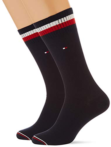 Tommy Hilfiger Mens Pete Men's (2 Pack) Socks, Navy, 43/46