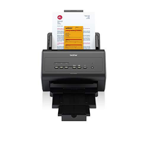 Brother ADS2400N Scanner Desktop con Rete Cablata, 40 ppm, ADF da 50 Fogli, Dual CIS per Scansione Fronte/Retro Automatica