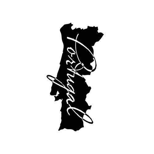 HKSOKLLJJ 3 Piezas de Pegatinas y calcomanías para Coche 9,4 CM X 17,7 CM Portugal Mapa Pegatina Reflectante Impermeable portátil Motocicleta Auto Bicicleta DIY Parche calcomanía Fiesta