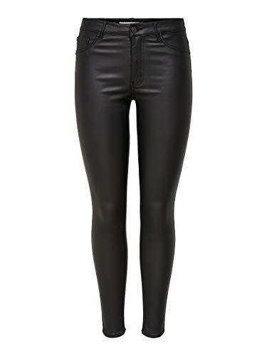 Jacqueline de Yong NOS Jdythunder Skinny Reg Coated Pnt Noos Pantalones, Negro (Black Black), 34 /L30 (Talla del Fabricante: X-Small) para Mujer