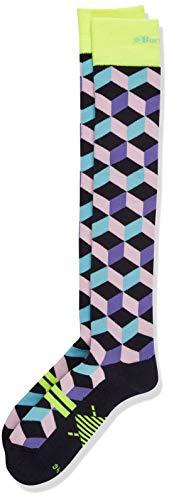 Burlington Kniestrumpf Snow Fun Wolle Größe 36-41 Damen schwarz blau viele weitere Farben verstärkte Skistrümpfe mit Muster gepolstert lang mit Frotteesohle zum Skifahren 1 Paar