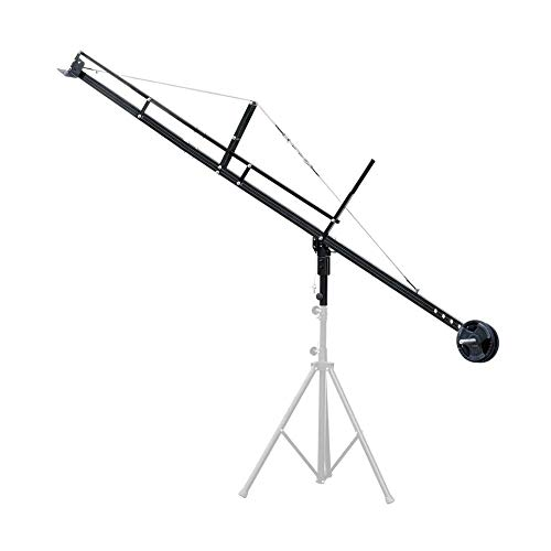 PROAIM 12ft Jib Arm for DSLR Video Camera up to 8kg/17.6lb   Adapts Fluid Camera Head, Pan Tilt, DJI Ronin Gimbals   for Tripod with 1.25 inch Pipe/Mast   Best Travel-Friendly Crane + Bag (P-12)