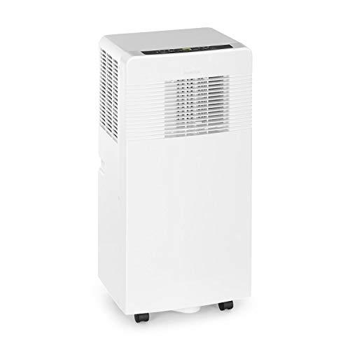 Klarstein Iceblock Ecosmart - Condizionatore portatile,3in1: Raffreddamento, Deumidificazione, Ventilazione, Classe Energetica A, Wi-Fi, Controllo con App, 4 Rotelle, 13-18m², 9.000BTU/2600W, Bianco
