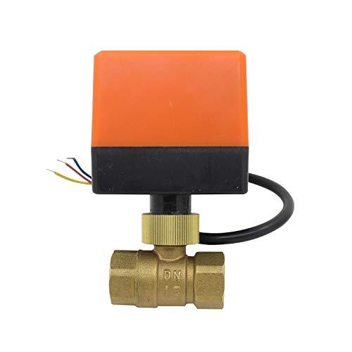 2-Wege-Ventil, motorisiert, Elektromagnet, normalerweise geschlossen, Elektroventil, 220 V, 1/2 3/4 1 1-1/4 1-1/2 Zoll (1/2 Zoll DN15)