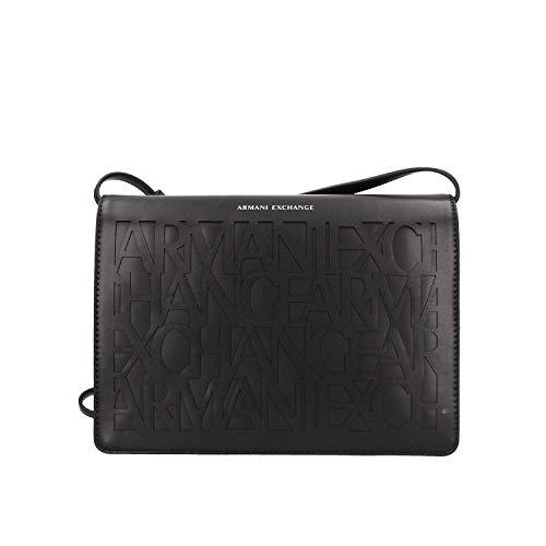 ARMANI EXCHANGE Embossed Logo Crossbody Bag - Borse a tracolla Donna, Nero (Black), 10x10x10 cm (W x H L)