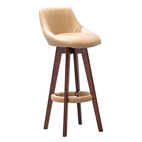 WEHOLY Barhocker Barstuhl Hochhocker aus massivem Holz Kitchen Home Stool Frühstück Beigefarbener Stuhl mit Rückenlehne (Sitzhöhe: 79,5 cm) Esszimmerstühle (Farbe: n ° 4)